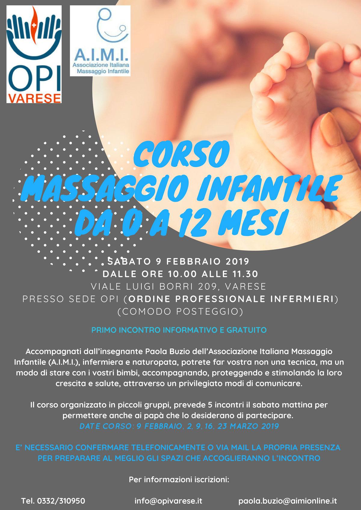 Corso massaggio infantile da 0 a 12 mesi - OPI Varese